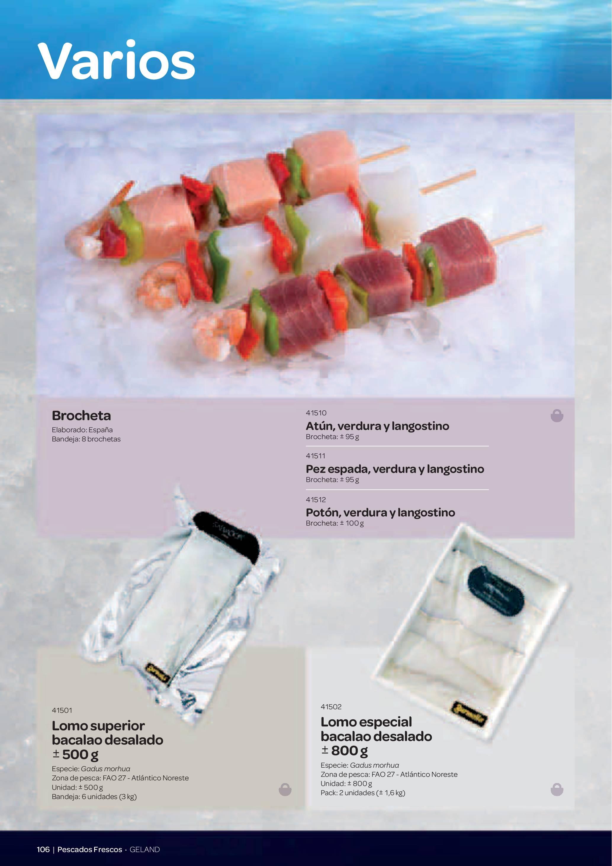Gama Productos del Mar - Pag. 106